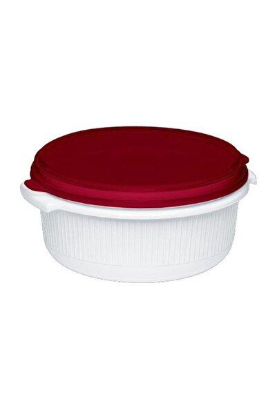 TEFAL Micro Family Yuvarlak Plastik Saklama Kabı Kırmızı 1l