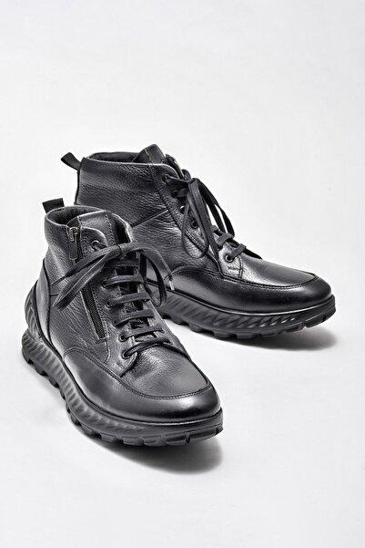 Elle Shoes Hakiki Deri Siyah Erkek Bot