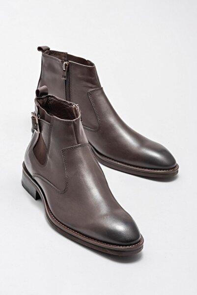 Elle Shoes Hakiki Deri Kahverengi Erkek Bot