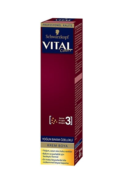 Vital Vıtal Colors Tüp Boya 6-68 Bronz Kahve