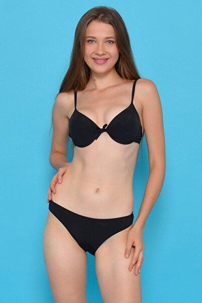Mossta Kadın Siyah Full Lycra Destekli Bikini