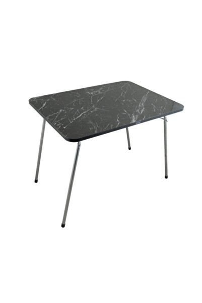 Byeren Byeren Piknik Masa 60*80 Granit Siyah
