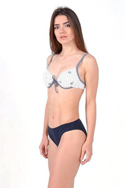 Mossta Kadın Lacivert Full Lycra Destekli Bikini