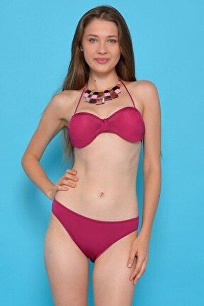 Kadın Mor Straplez Destekli Bikini