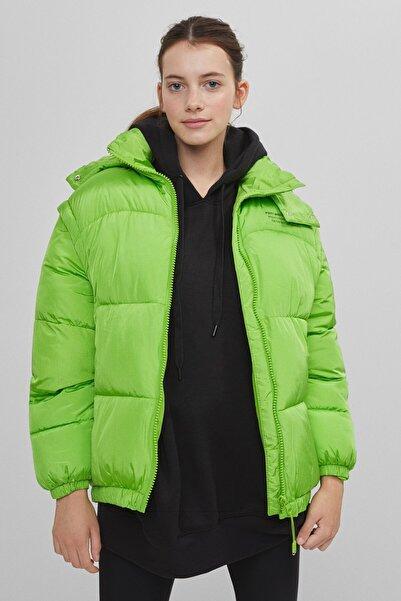 Bershka Kadın Yeşil Neon Mont