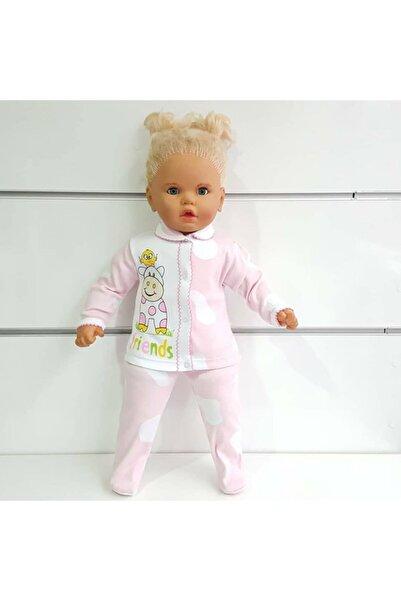 bebegen Inek Baskılı Pembe Beyaz Lekeli 2'li Kız Takım (ayaklı)