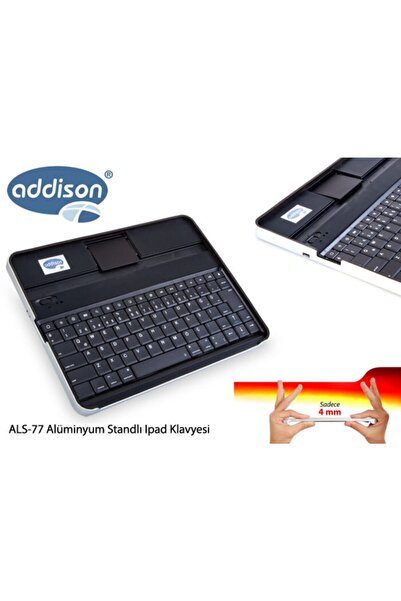 ADDISON Als-77 Siyah Bluetooth Tablet Pc + Ipad Alüminyum Q Multi