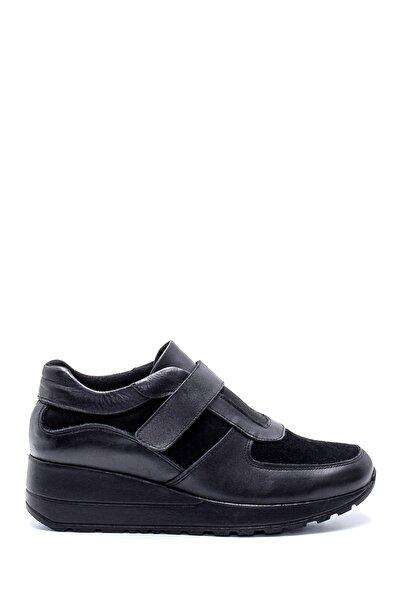Derimod Kadın Siyah Süet Deri Ayakkabı