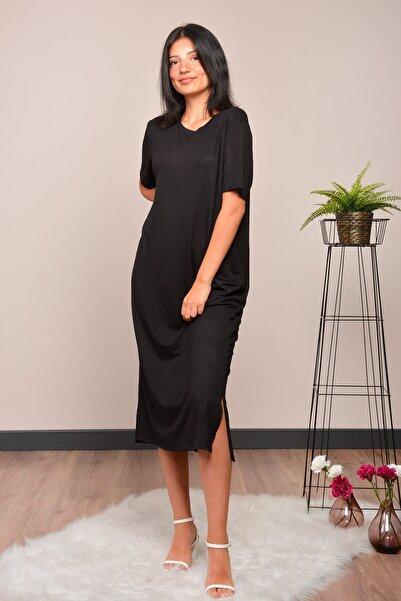 Mossta Kadın Siyah Basic Elbise