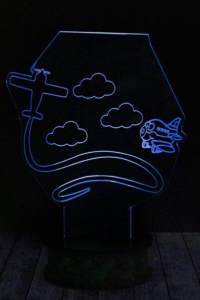 EJOYA Bulut Uçak 3 Boyutlu 3d Led Gece Lambası 90110