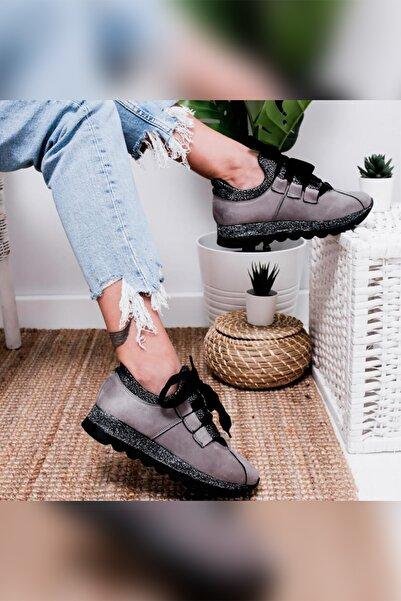 Limoya Gri Kadın Casual Ayakkabı 3SVL15