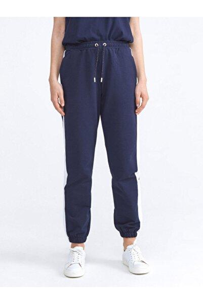 Xint Kadın Lacivert Pamuklu Rahat Kesim Sweat Pantolon