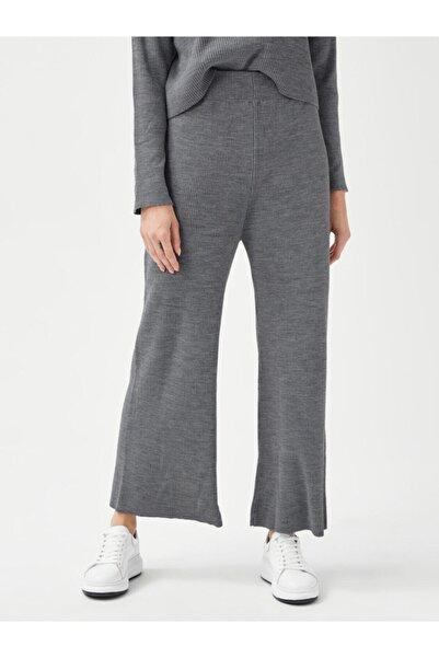 Xint Kadın Gri Rahat Kesim Triko Pantolon