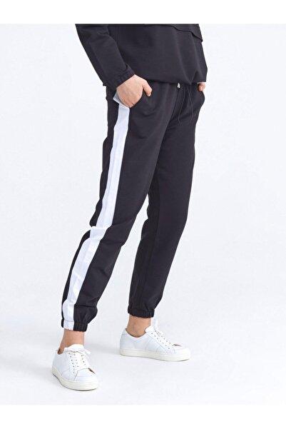 Xint Kadın Siyah Pamuklu Rahat Kesim Sweat Pantolon