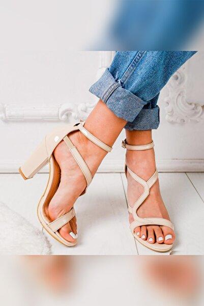 Limoya Justice Ten Rugan Platformlu Kalın Topuklu Sandalet
