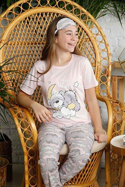 Mossta Kız Çocuk Pudra Kısa Kol Pijama