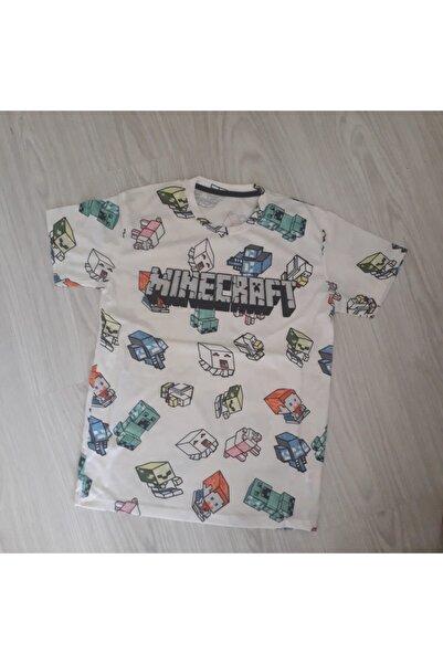 Riccotarz Erkek Çocuk Krem Baskılı T-shirt
