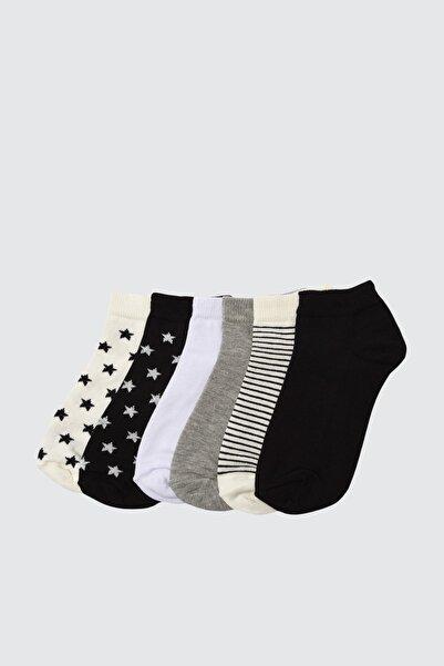 TRENDYOLMİLLA Gri 6'lı Paket Örme Çorap TWOAW21CO0048