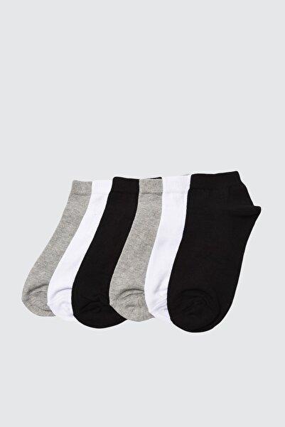 TRENDYOLMİLLA Siyah 6'lı Paket Örme Çorap TWOAW21CO0048