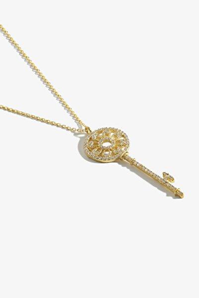 Lapidore Anahtar Figürlü Gold Kolye