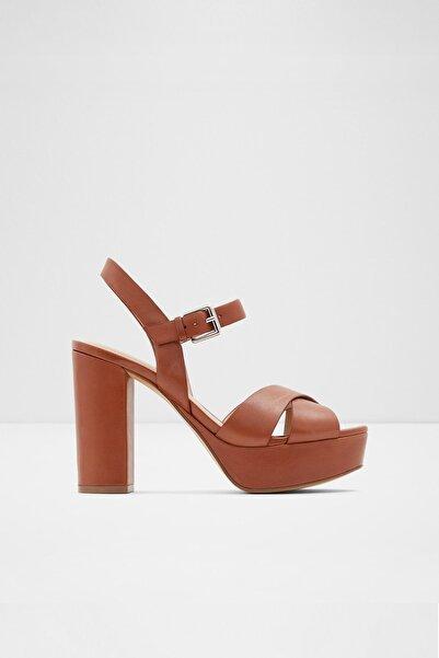 Aldo Kadın Kahve Hakiki Deri  Yüksek Topuklu Sandalet
