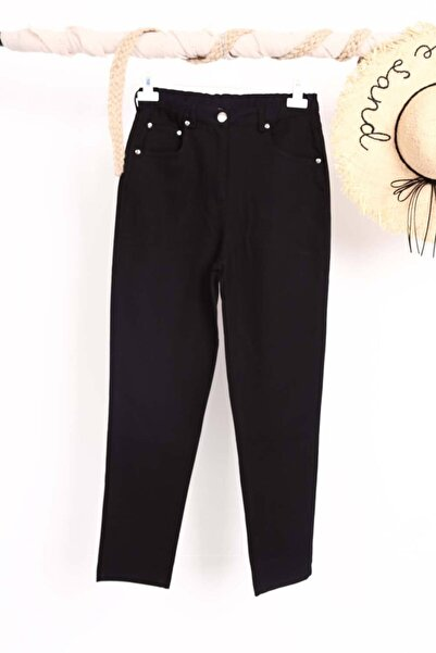 Loreen Kadın Siyah Boru Paça Havuç Pantolon