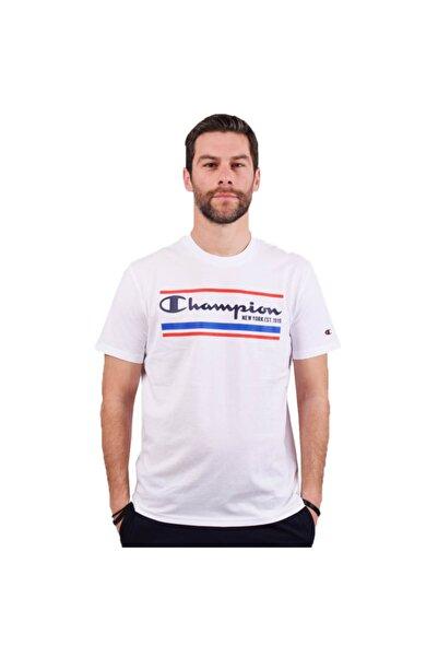 Champion Erkek Beyaz T-shırt  214306-ww001