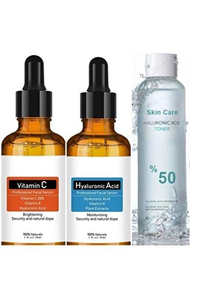 NATUREL Natural Serum Set-hyaluronic Acid+vitamin C+hyaluronic Acid Tonik 250ml