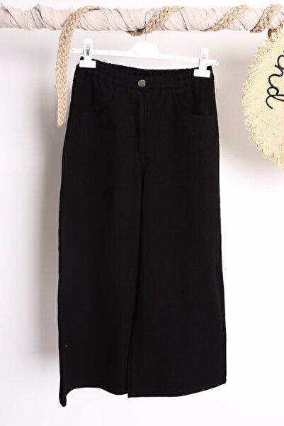 Loreen Kadın Siyah Bol Paça Denim Pantolon