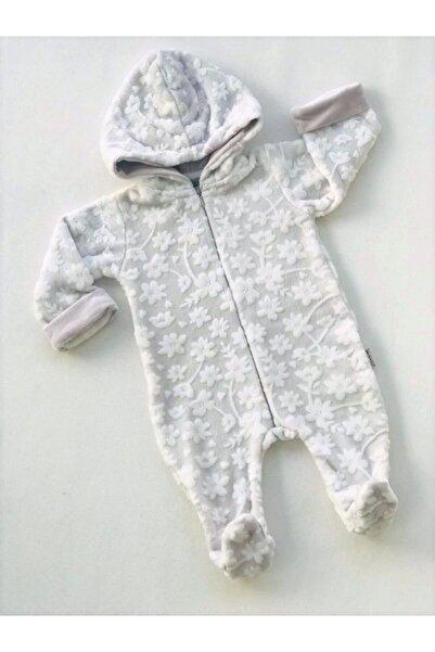 Bebitof Baby Baby Boss Çiçek Desenli Jakarlı Kadife Gri