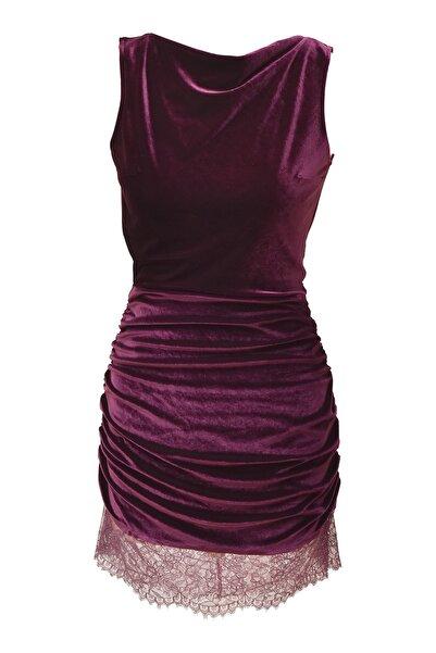 Barrus Kadın Kadife Elbise