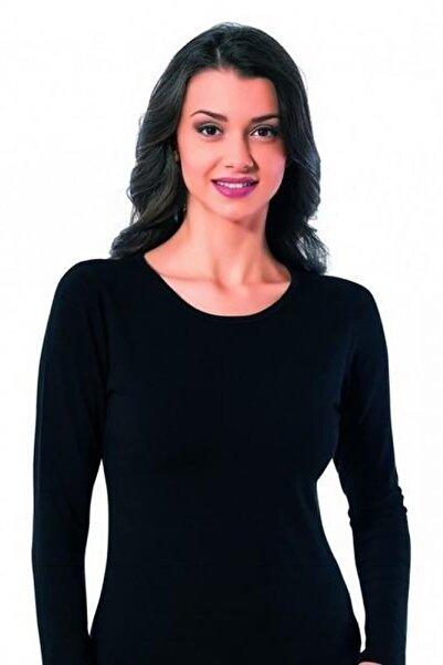 Mossta Kadın Siyah Termal İçlik Uzun Kol
