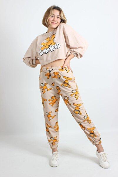 HB Moda Kadın Garfield Baskılı Eşofman Takımı