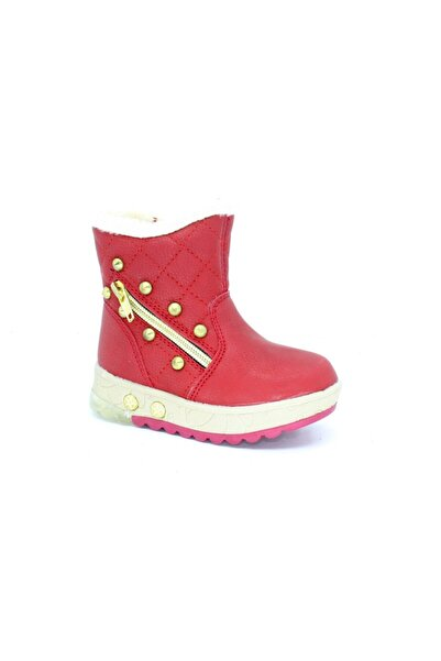 PUNTO Kız Çocuk Kırmızı Patık Işıklı Bot 638147