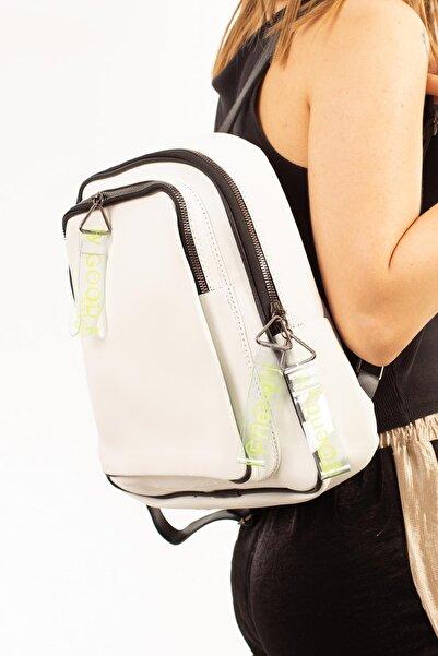 Limoya Bags Kadın Beyaz Sırt Çantası