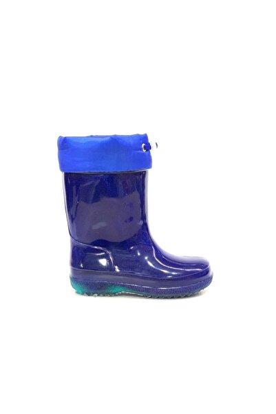 Akınal Bella Erkek Çocuk Lacivert Sıcak Astar Yağmurluk Işıklı Çizme