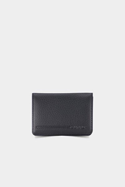 GUARD Mıknatıslı Küçük Boy Siyah Deri Kartlık/kartvizitlik