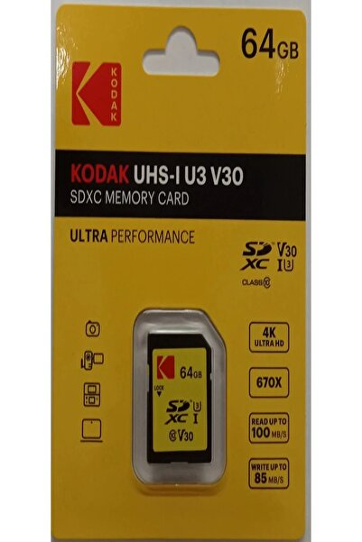 Kodak 64gb Sd Hafıza Kartı Ultra Class 10 Uhs-1 U3
