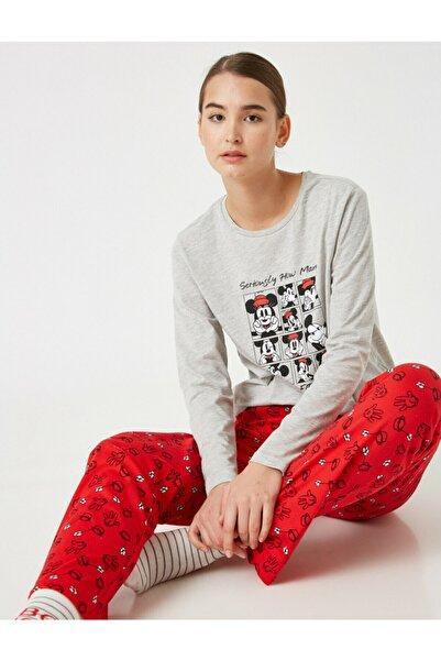Koton Kadın Kırmızı Pamuklu Disney Pijama Takimi