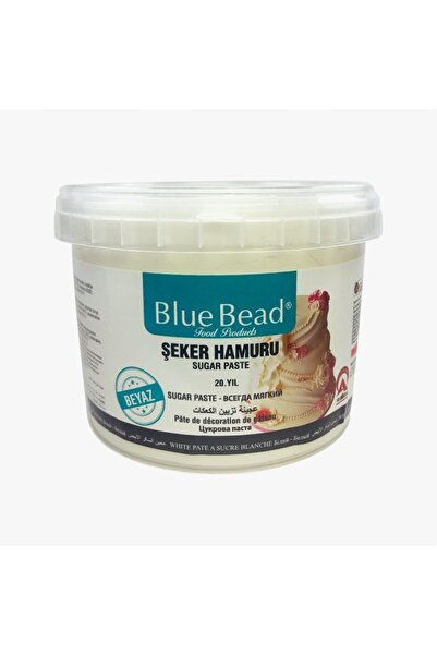 Blue Bead Beyaz Şeker Hamuru 1 kg