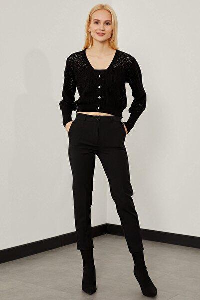 Arma Life Kadın Siyah Cepli Kumaş Pantolon