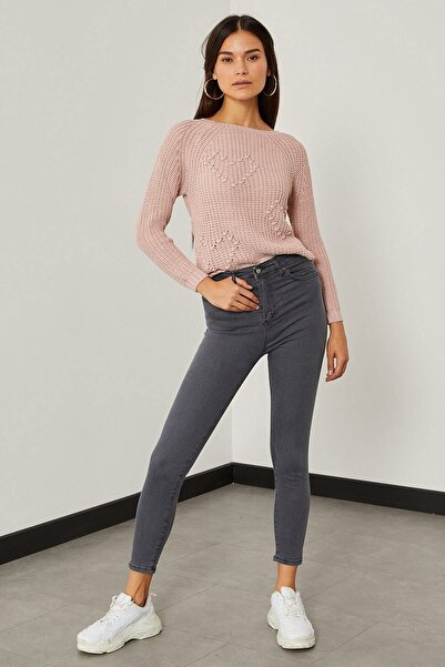 Arma Life Kadın Gri Yüksek Bel Likralı Pantolon