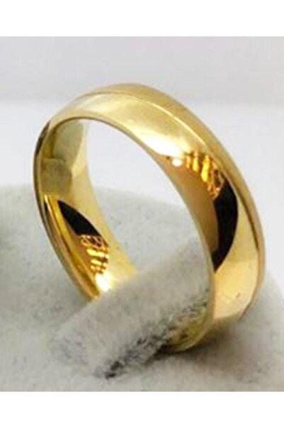 rich lion Unisex Altın Imitasyon Altın Kaplama Alyans