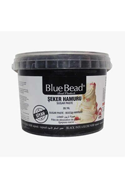 Blue Bead Siyah Şeker Hamuru 1 Kg