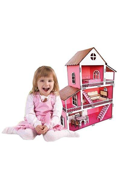 WoodyLife Ahşap Oyuncak Ev Portatif Bebek Evi Lol Bebek Barbie Uyumlu