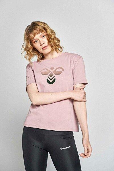 HUMMEL Kadın Pembe Hmlvıolet T-shırt S/s Tee T-shirt