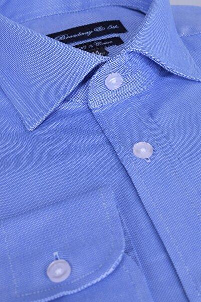 Ottomoda Erkek Mavi Broadway Uzun Kollu Gömlek