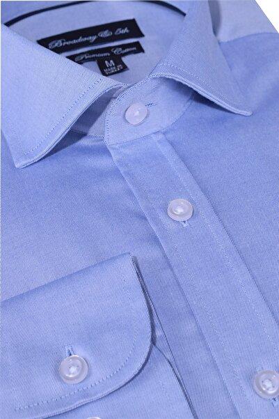 Ottomoda Erkek Mavi  Broadway Uzun Kollu Klasik Gömlek