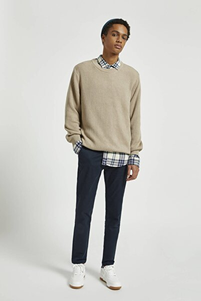 Pull & Bear Erkek Lacivert Smart Skinny Fit Chino Pantolon 09678513