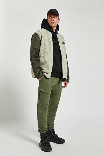 Pull & Bear Erkek Haki Yumuşak Kargo Pantolon 09695509